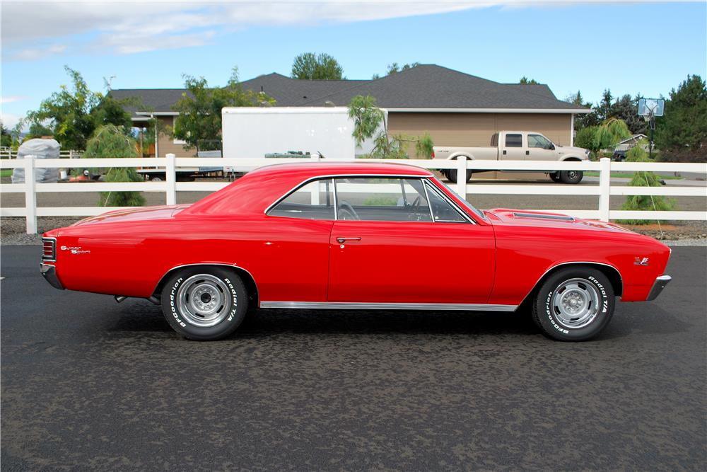1967 CHEVROLET CHEVELLE SS - Side Profile - 187220