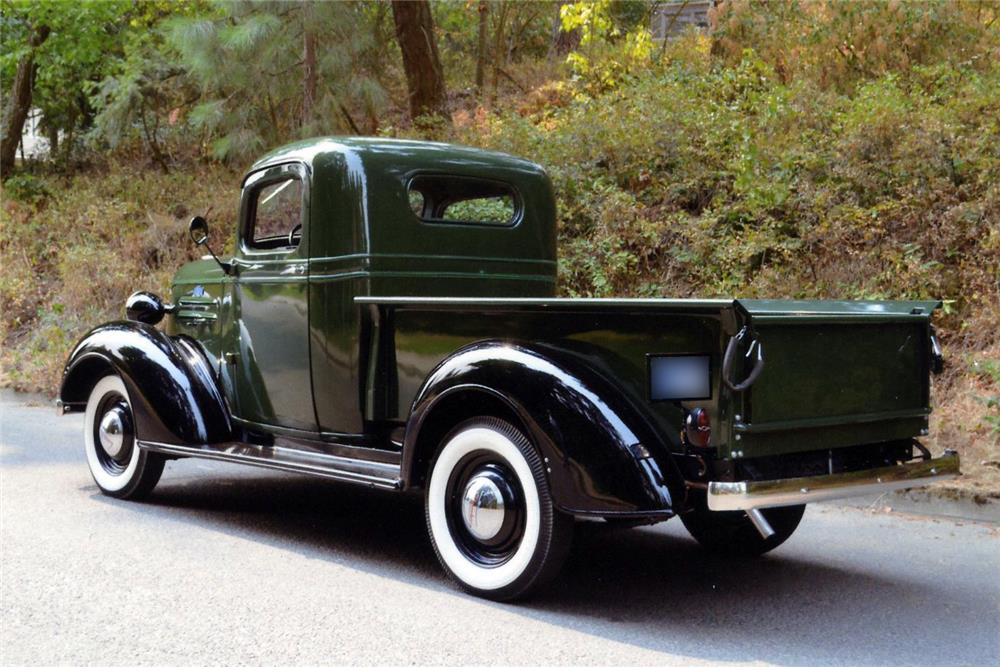 1937 CHEVROLET PICKUP - Rear 3/4 - 187243