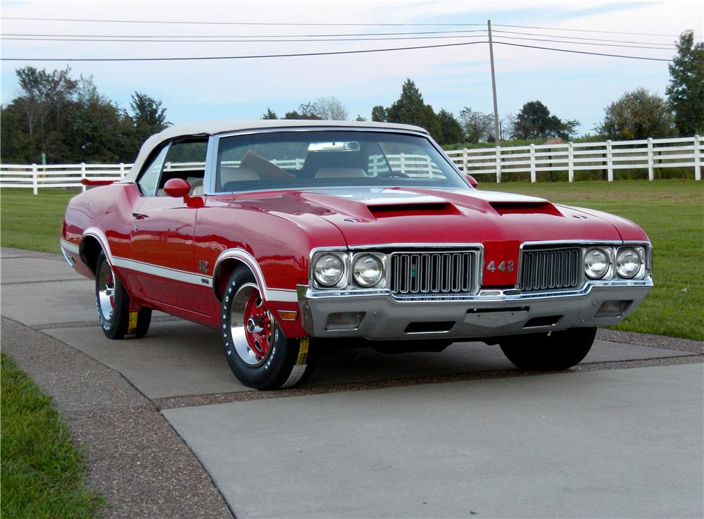 1970 OLDSMOBILE 442 W30 CONVERTIBLE - Front 3/4 - 187248