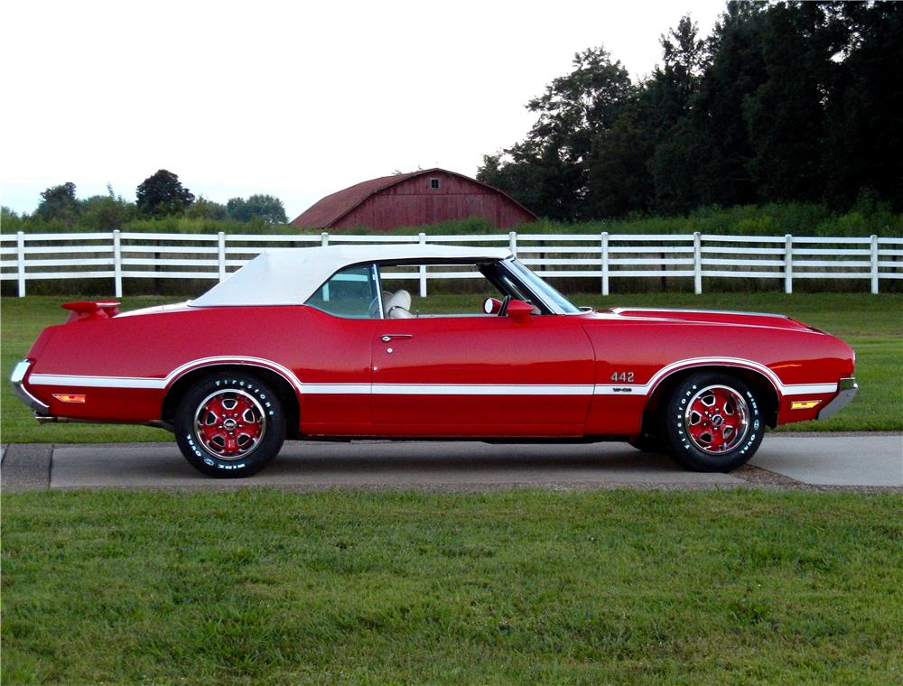 1970 OLDSMOBILE 442 W30 CONVERTIBLE - Side Profile - 187248