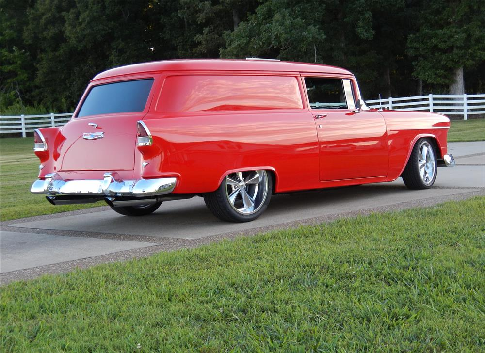 1955 CHEVROLET SEDAN DELIVERY CUSTOM WAGON - Rear 3/4 - 187253