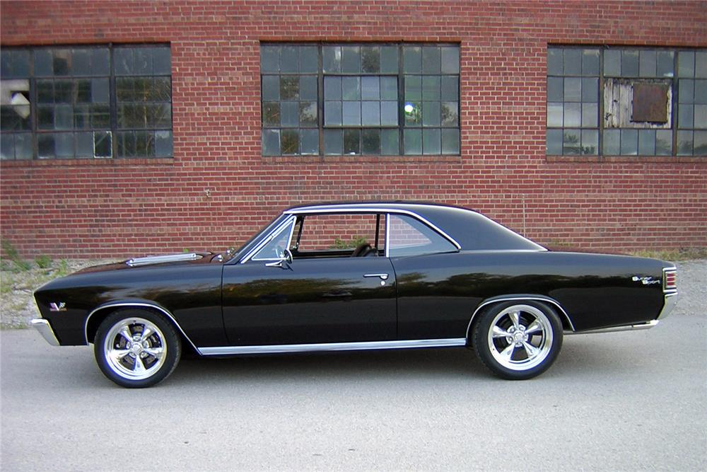 1967 CHEVROLET CHEVELLE CUSTOM HARDTOP - Side Profile - 187268