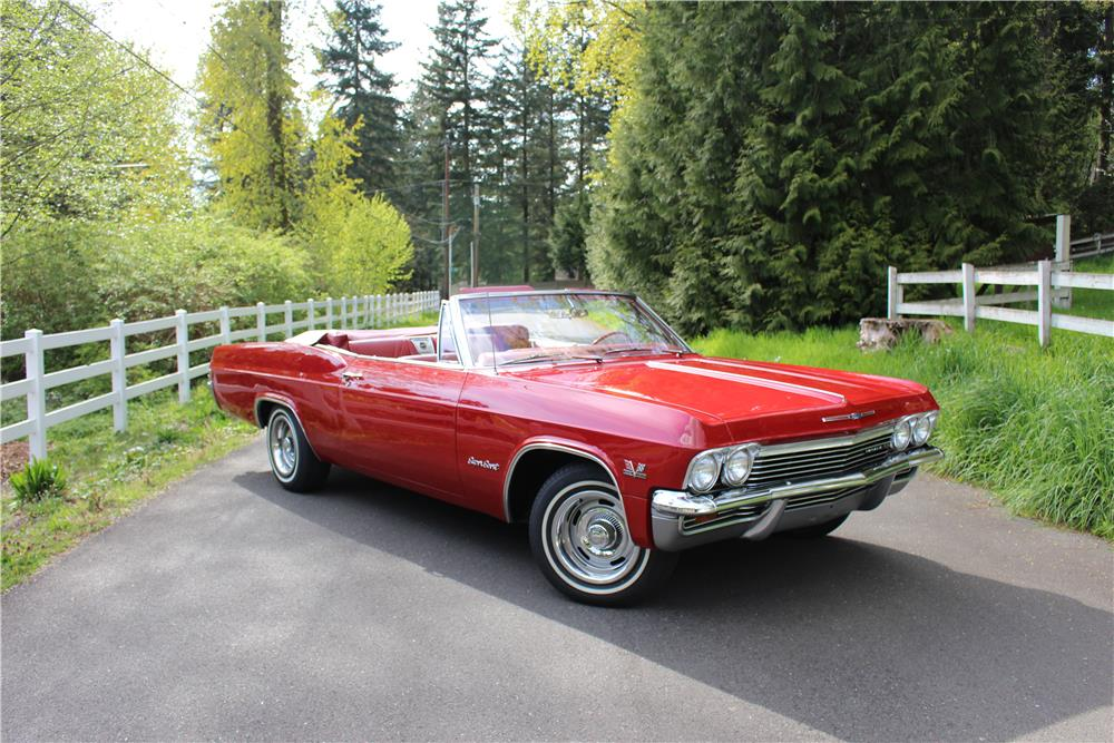 1965 CHEVROLET IMPALA SS CONVERTIBLE - Front 3/4 - 187276