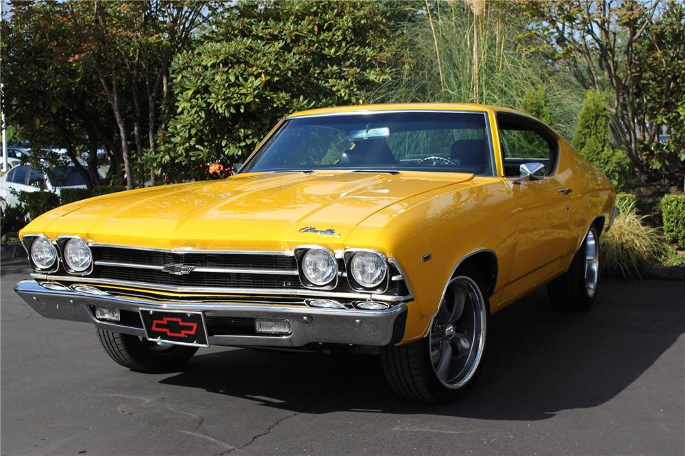 1969 CHEVROLET CHEVELLE CUSTOM COUPE - Front 3/4 - 187281