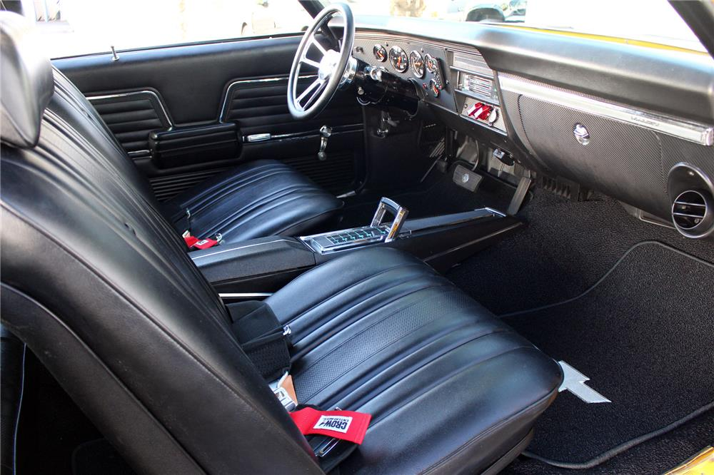 1969 CHEVROLET CHEVELLE CUSTOM COUPE - Interior - 187281