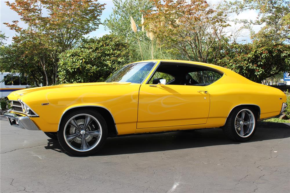 1969 CHEVROLET CHEVELLE CUSTOM COUPE - Side Profile - 187281