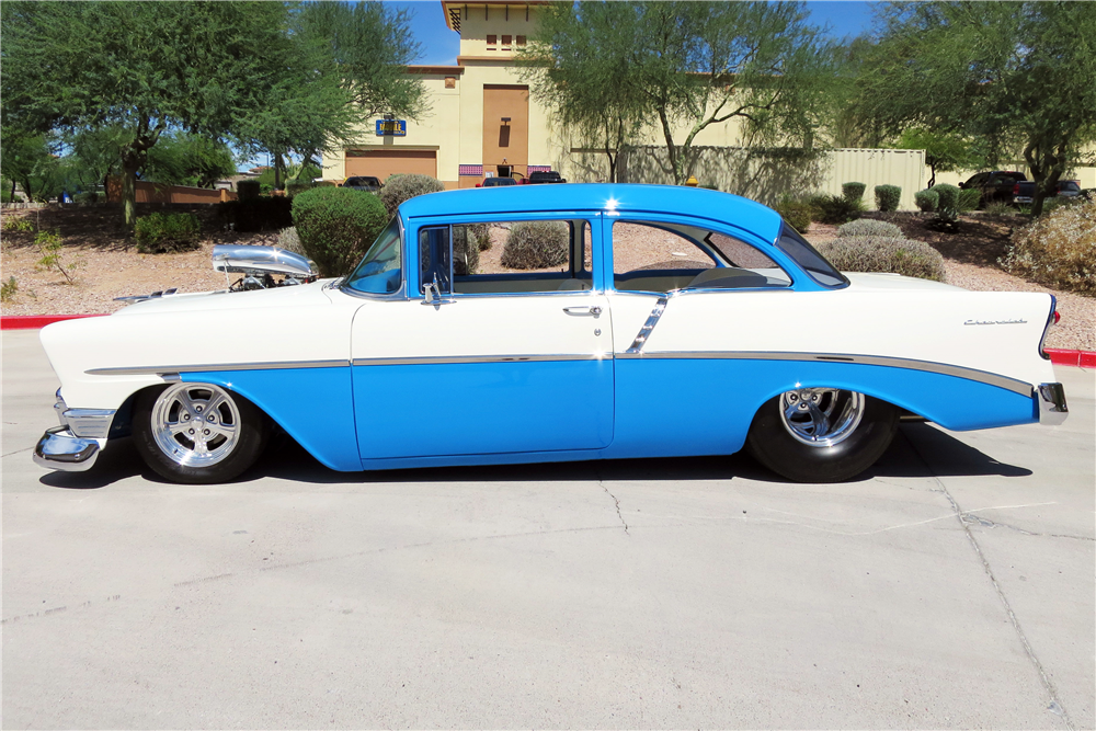 1956 CHEVROLET 210 CUSTOM 2 DOOR POST - Side Profile - 187294