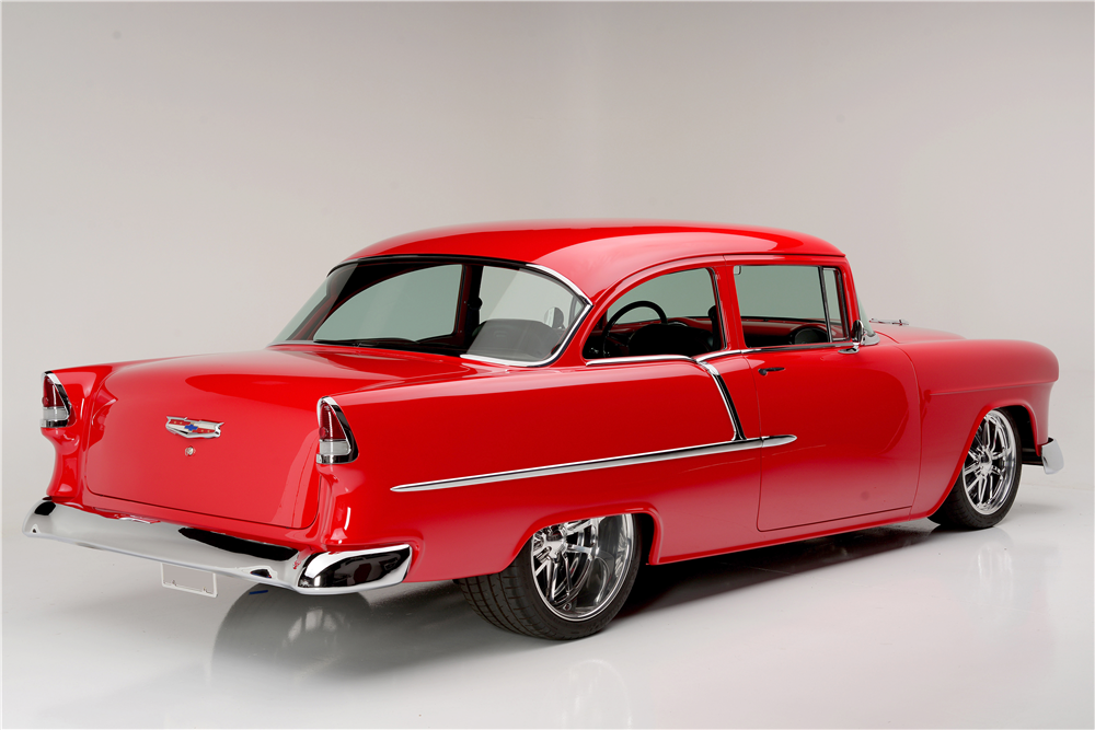1955 CHEVROLET 210 CUSTOM SEDAN - Rear 3/4 - 187311