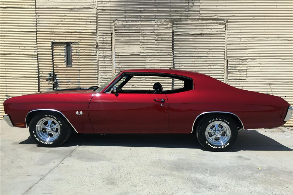 1970 CHEVROLET CHEVELLE SS CUSTOM COUPE - Side Profile - 187313