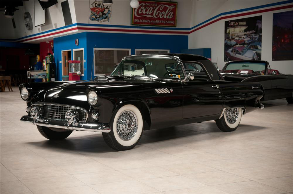 1955 FORD THUNDERBIRD CONVERTIBLE - Front 3/4 - 187322