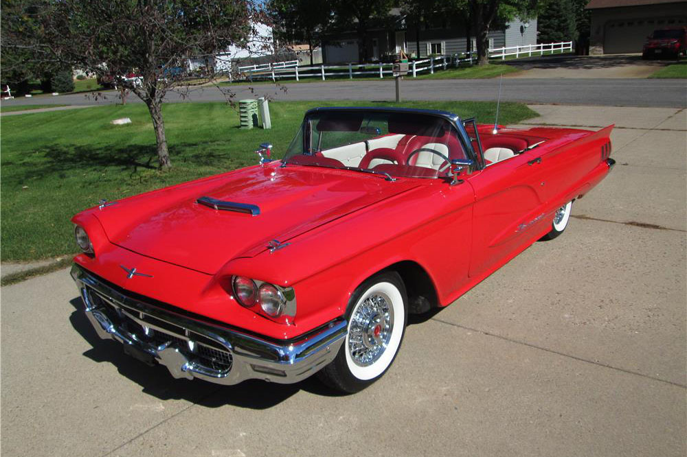 1960 FORD THUNDERBIRD CONVERTIBLE - Front 3/4 - 187324