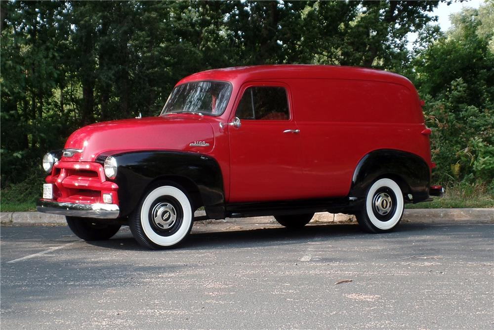1954 CHEVROLET PANEL TRUCK - Side Profile - 187370