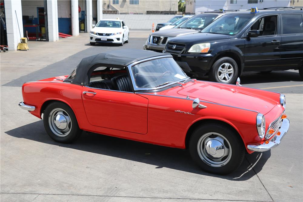 ... 1966 HONDA S600 CONVERTIBLE   Side Profile   187408 ...