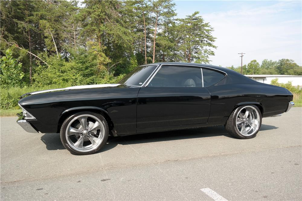 1969 CHEVROLET CHEVELLE CUSTOM COUPE - Side Profile - 187409