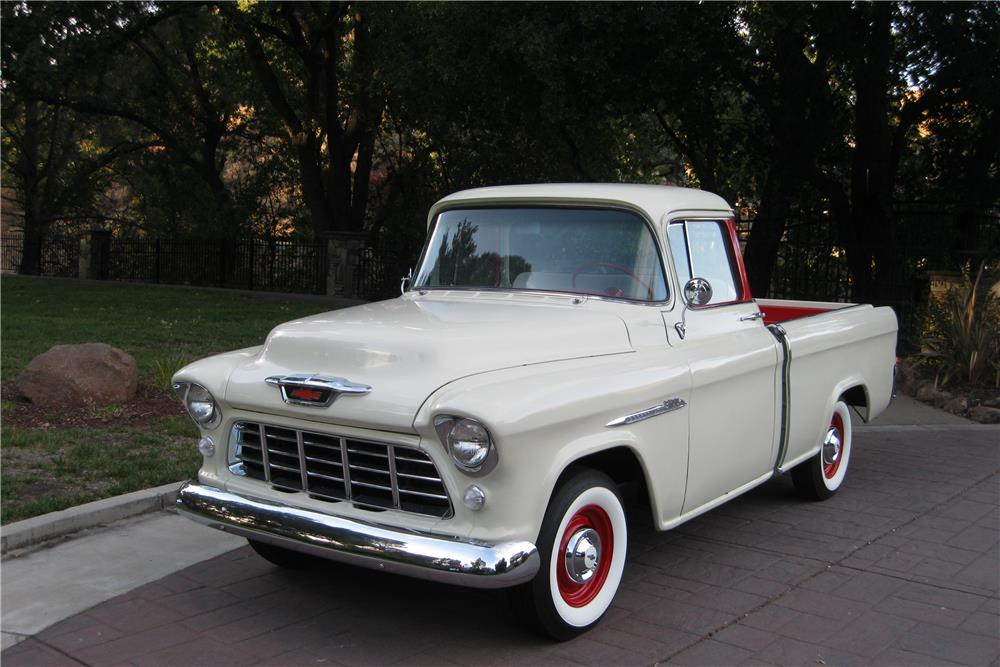 1955 CHEVROLET CAMEO PICKUP - Front 3/4 - 187419
