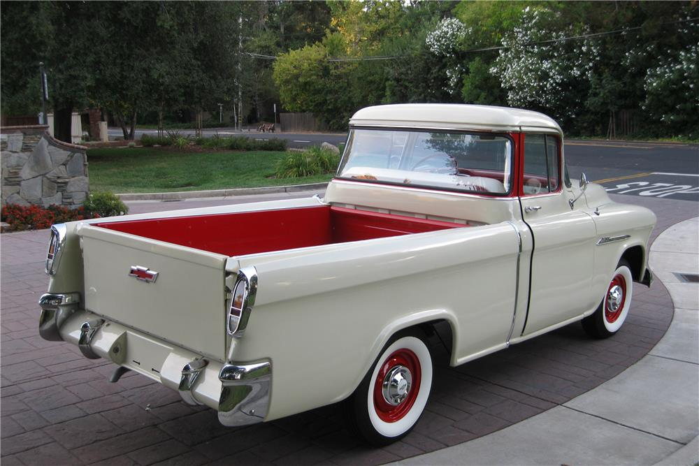 1955 CHEVROLET CAMEO PICKUP - Rear 3/4 - 187419