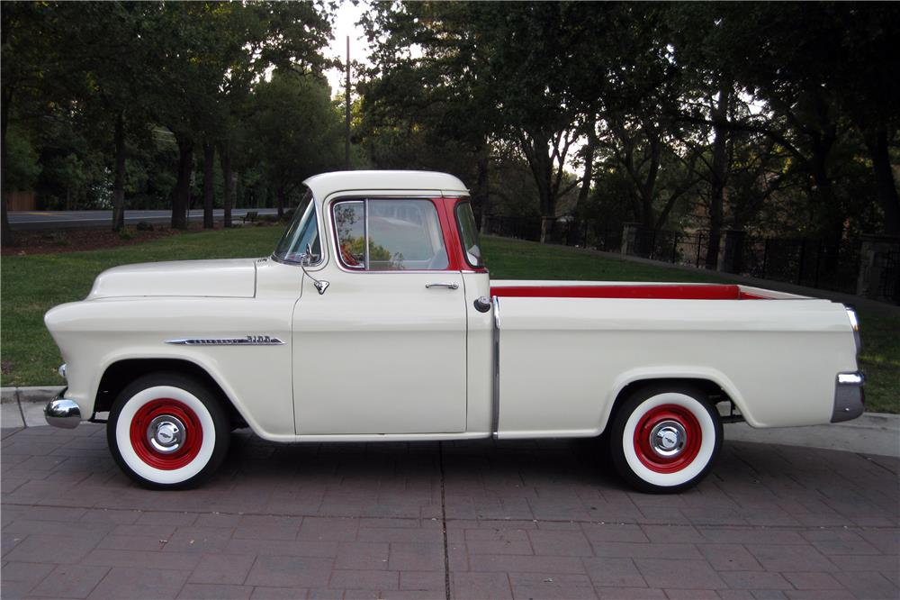 1955 CHEVROLET CAMEO PICKUP - Side Profile - 187419
