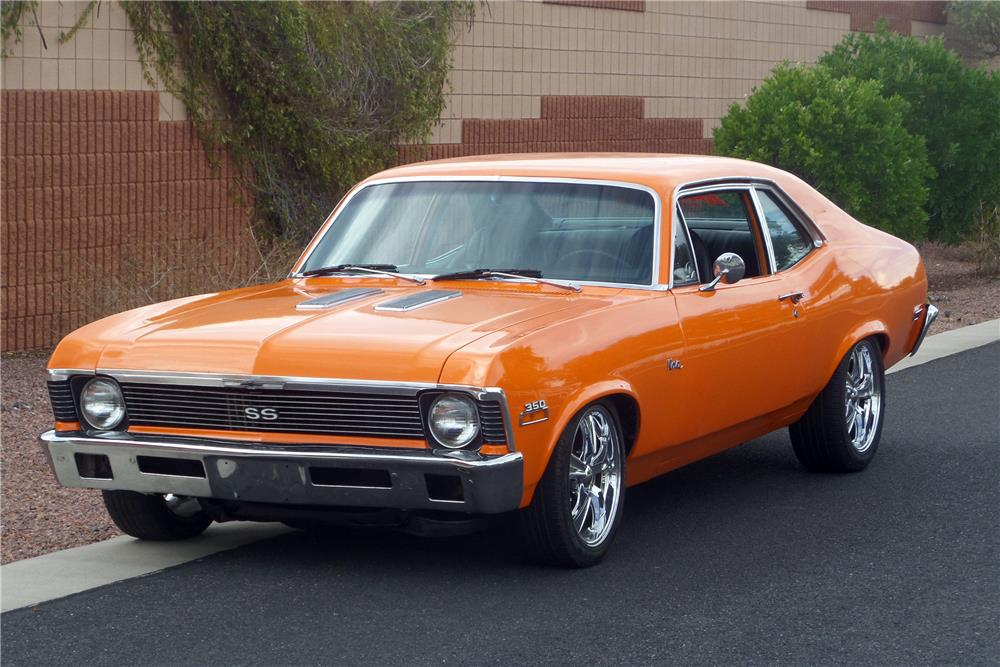 1972 CHEVROLET NOVA CUSTOM COUPE - Front 3/4 - 187487
