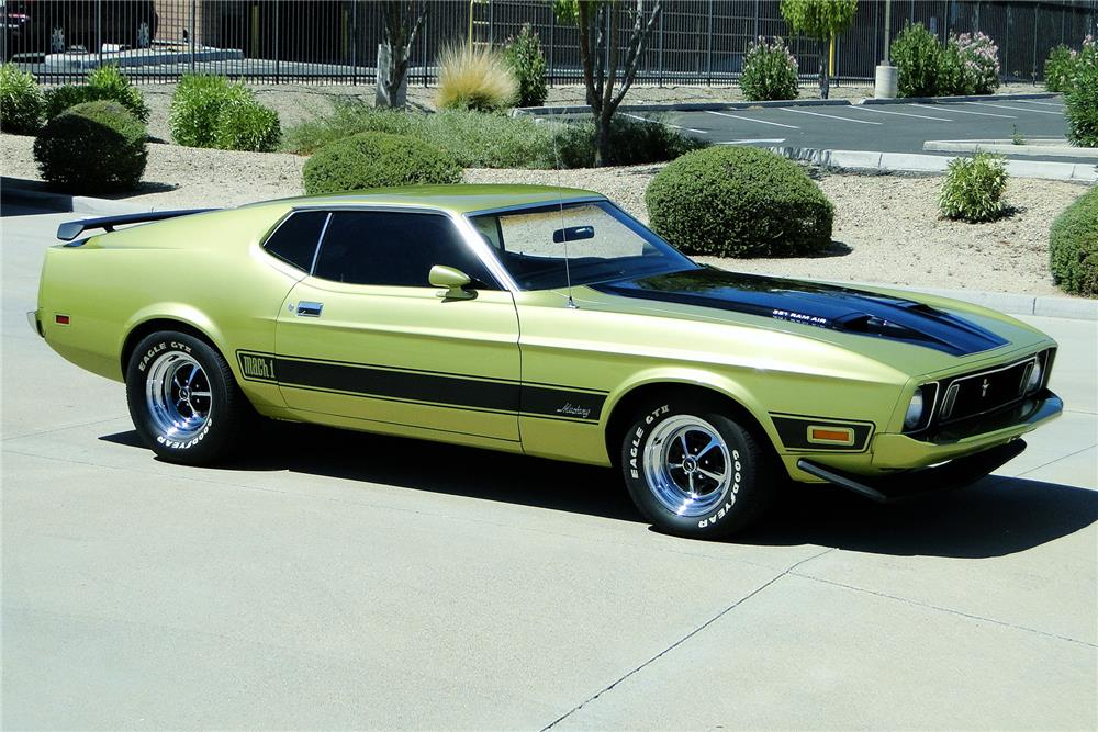 1973 FORD MUSTANG MACH 1 RAM AIR - Front 3/4 - 187490