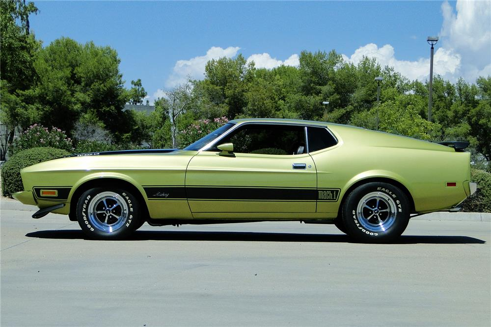 1973 FORD MUSTANG MACH 1 RAM AIR - Side Profile - 187490