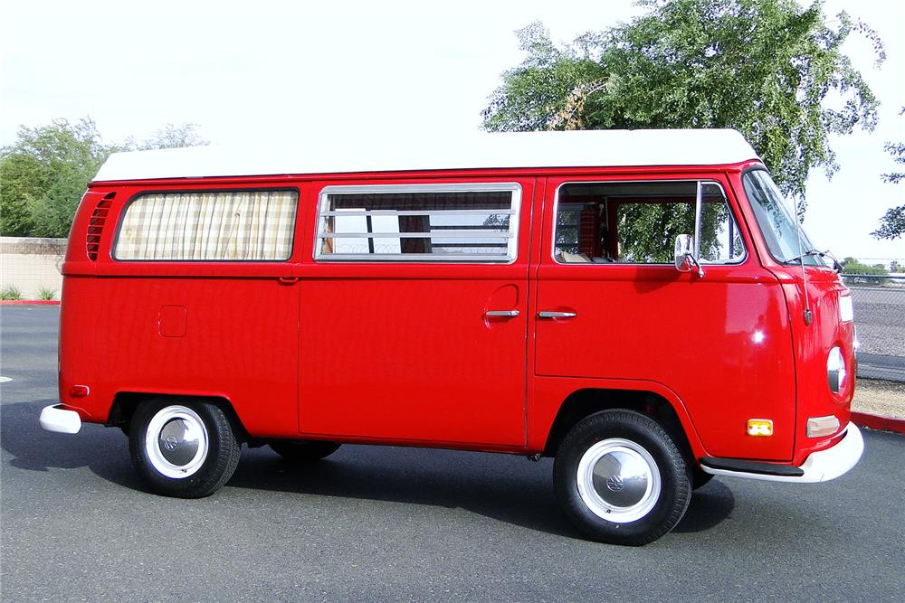 1970 VOLKSWAGEN WESTFALIA POP-TOP CAMPER - Side Profile - 187497