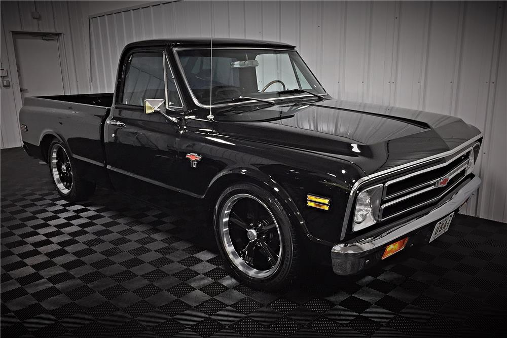 1968 CHEVROLET C-10 CUSTOM PICKUP - Front 3/4 - 187511