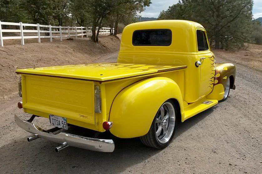 1955 CHEVROLET 3100 CUSTOM PICKUP - Rear 3/4 - 187514