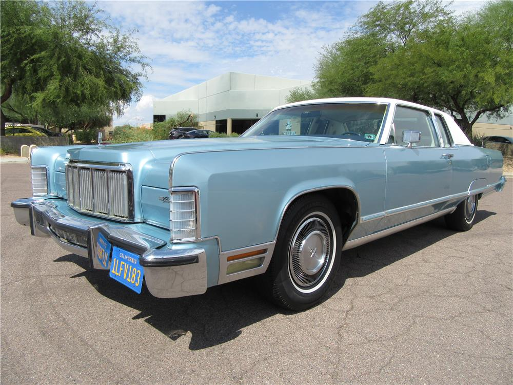 1976 LINCOLN CONTINENTAL COUPE - Side Profile - 187520