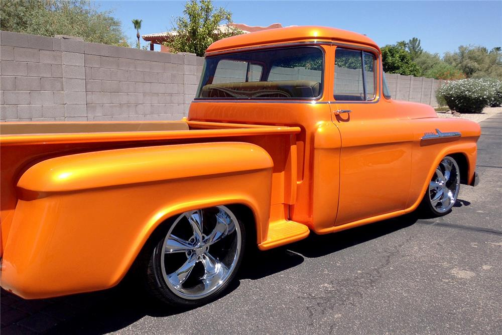1959 CHEVROLET CUSTOM PICKUP - Rear 3/4 - 187572