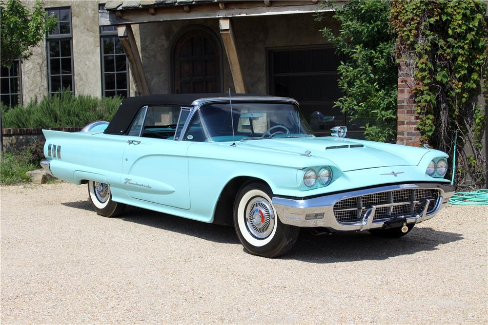1960 FORD THUNDERBIRD CONVERTIBLE - Front 3/4 - 187693