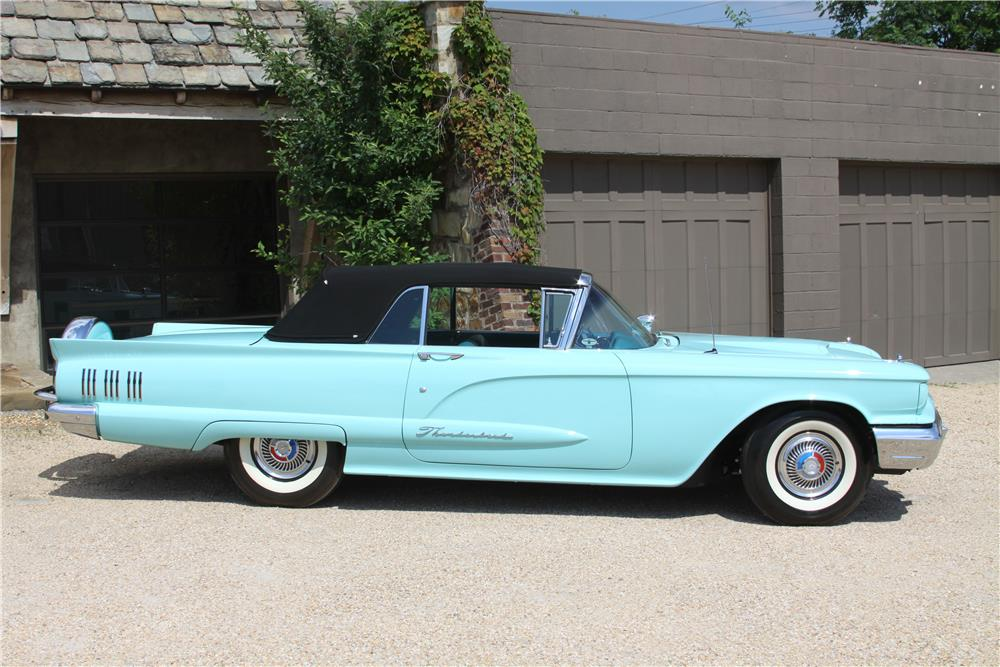 1960 FORD THUNDERBIRD CONVERTIBLE - Side Profile - 187693