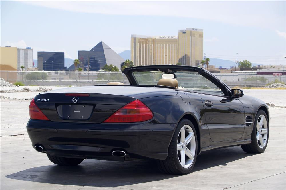 2005 MERCEDES-BENZ SL500 CONVERTIBLE - Rear 3/4 - 187696