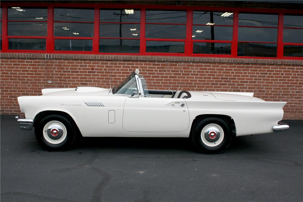 "1957 FORD THUNDERBIRD ""F"" CONVERTIBLE - Side Profile - 187715"