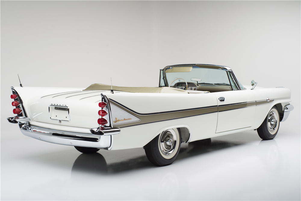 1958 DESOTO ADVENTURER CONVERTIBLE - Rear 3/4 - 187818