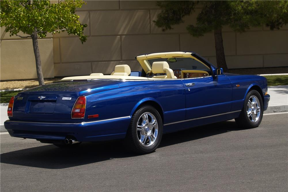 2001 BENTLEY AZURE CONVERTIBLE - Rear 3/4 - 188037