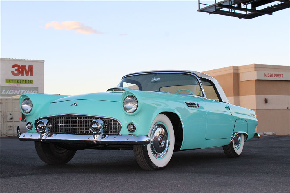 1955 FORD THUNDERBIRD CONVERTIBLE - Front 3/4 - 188060