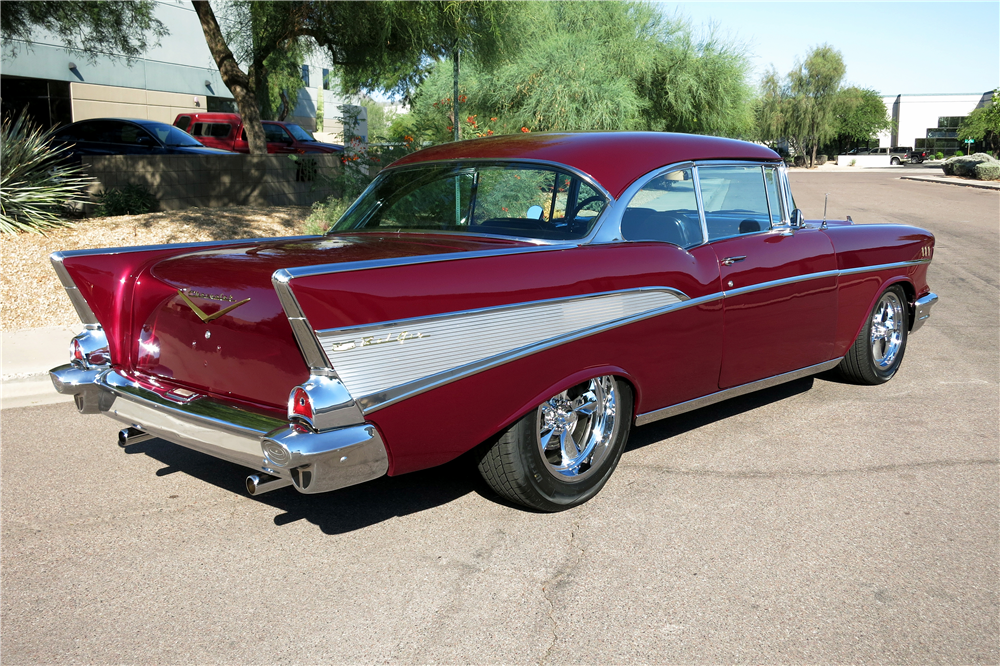 1957 CHEVROLET BEL AIR CUSTOM HARDTOP - Rear 3/4 - 188069