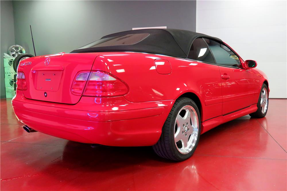 2003 MERCEDES-BENZ CLK430 CONVERTIBLE - Rear 3/4 - 188078