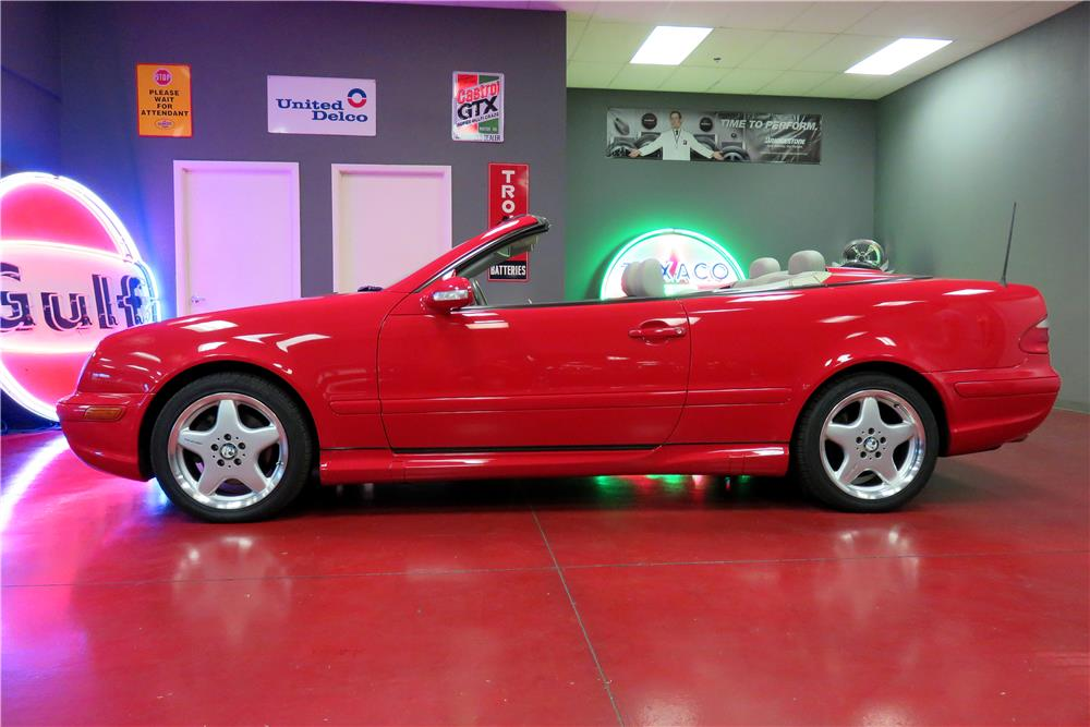 2003 MERCEDES-BENZ CLK430 CONVERTIBLE - Side Profile - 188078