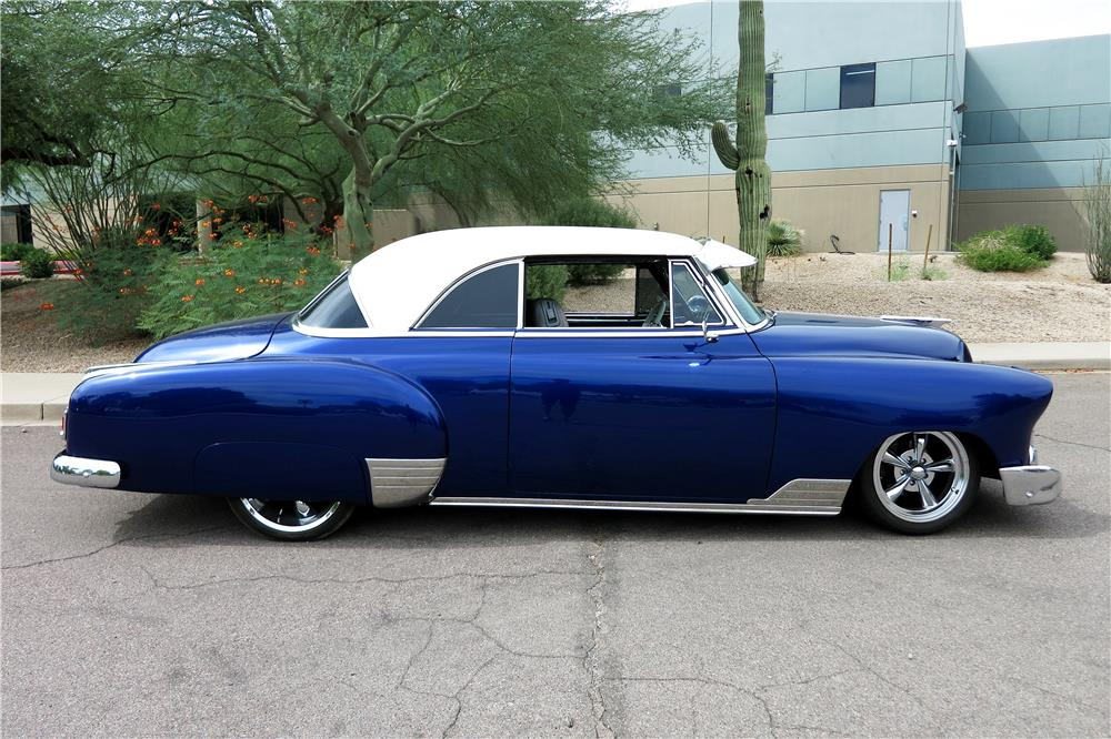 1951 CHEVROLET CUSTOM SPORT COUPE - Side Profile - 188106