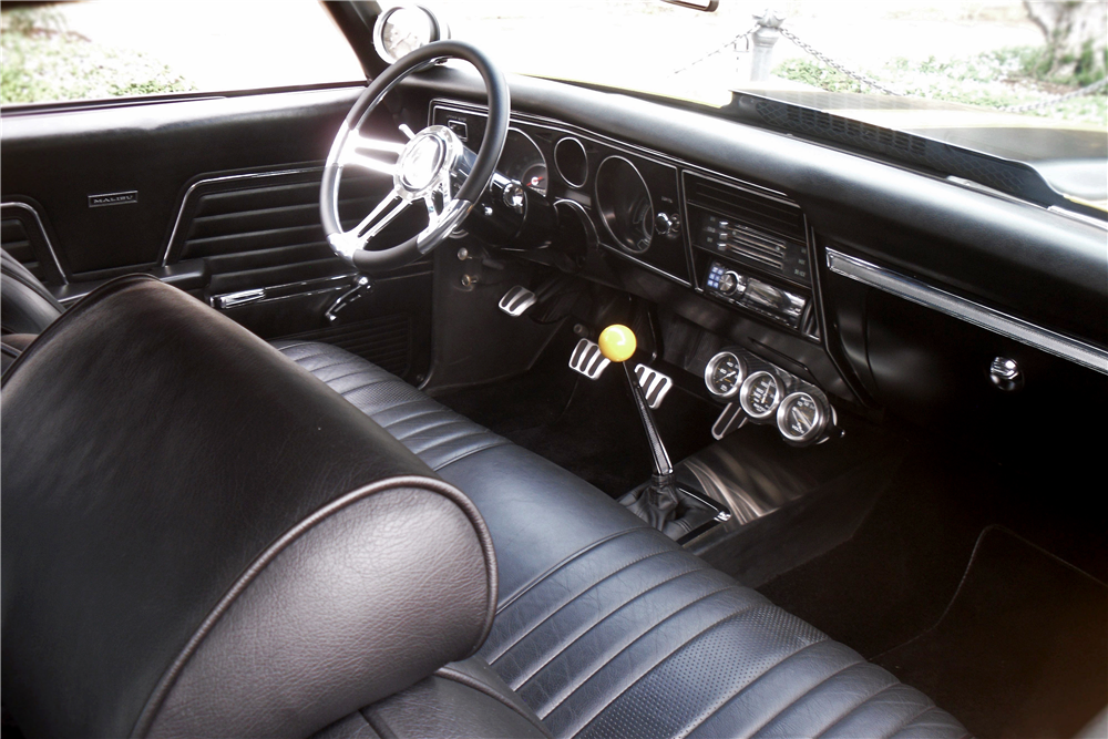 1969 CHEVROLET CHEVELLE MALIBU CUSTOM COUPE - Interior - 188138