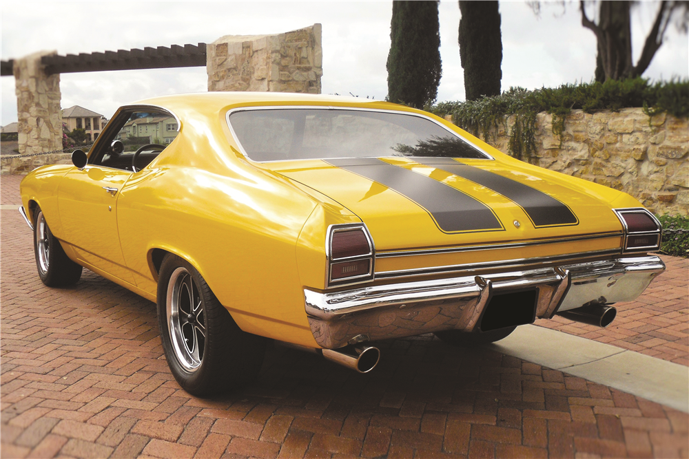 1969 CHEVROLET CHEVELLE MALIBU CUSTOM COUPE - Rear 3/4 - 188138