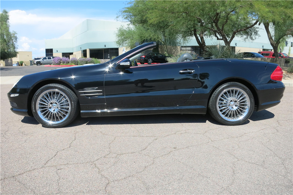 2003 MERCEDES-BENZ SL500 CONVERTIBLE - Side Profile - 188146