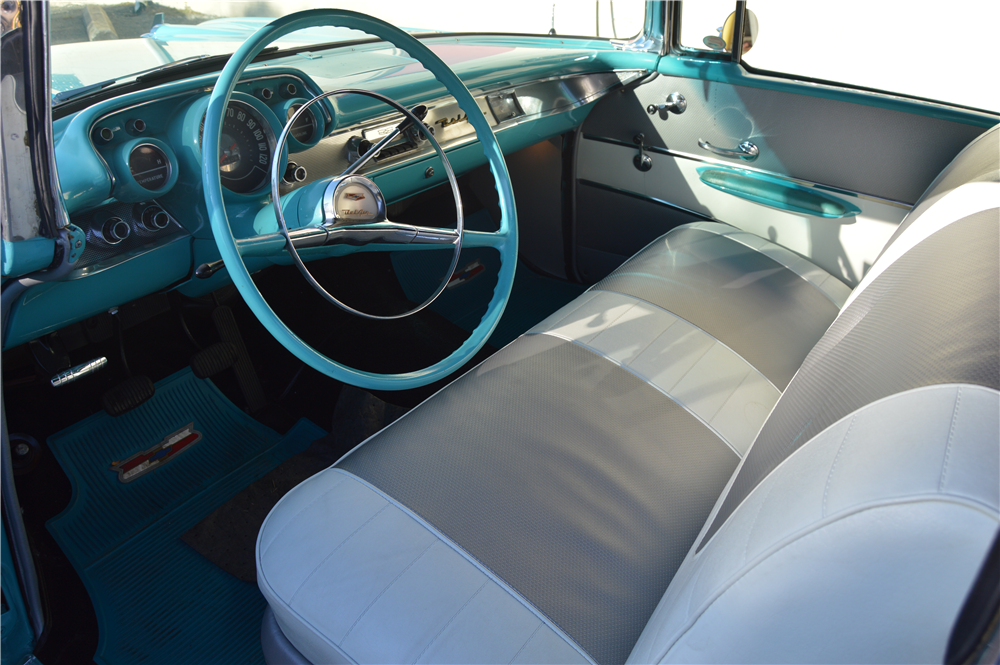 1957 CHEVROLET BEL AIR CONVERTIBLE - Interior - 188162