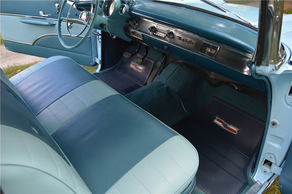 1957 CHEVROLET BEL AIR CONVERTIBLE - Interior - 188163