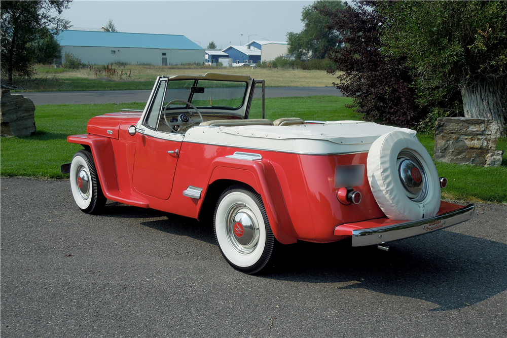 1949 WILLYS JEEPSTER CONVERTIBLE - Rear 3/4 - 188456