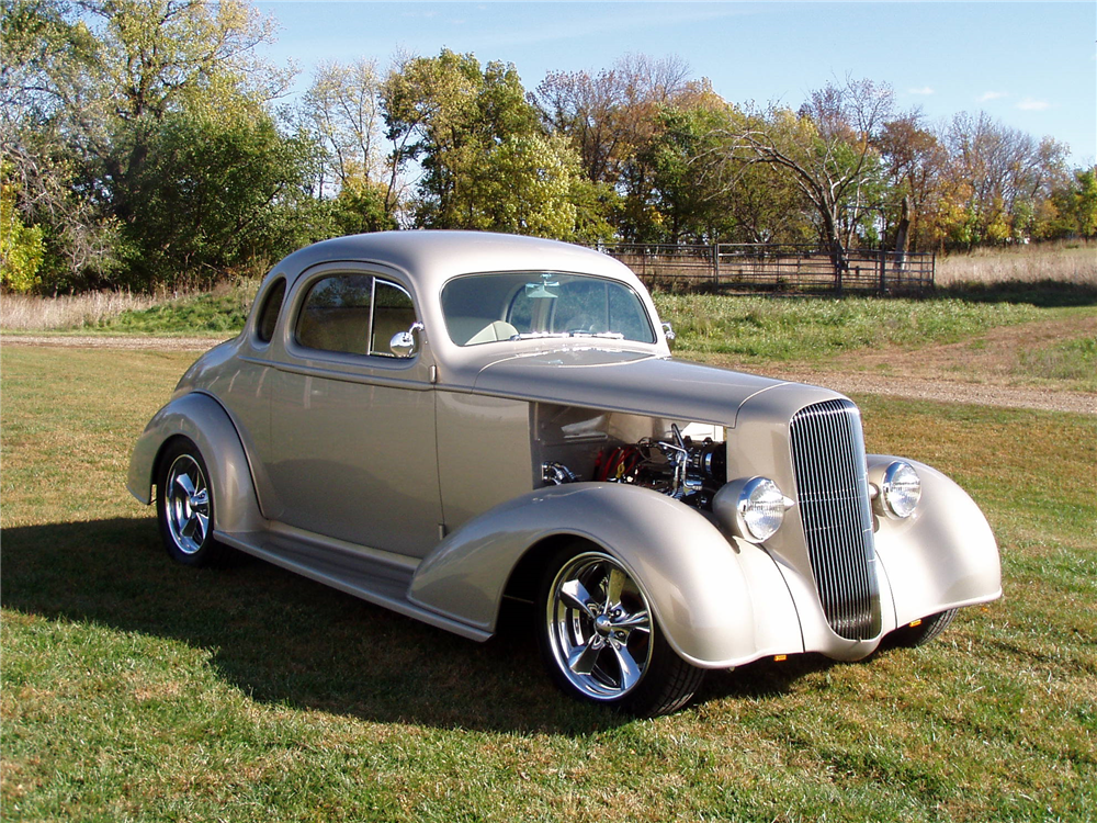 1936 CHEVROLET 5-WINDOW CUSTOM COUPE - Front 3/4 - 188459