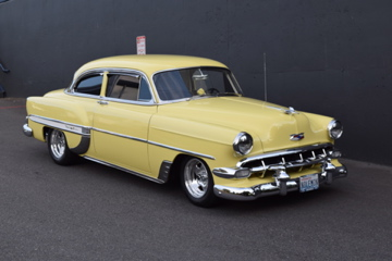 1954 CHEVROLET 210 DEL RAY CUSTOM 2-DOOR POST - Front 3/4 - 188470