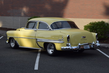1954 CHEVROLET 210 DEL RAY CUSTOM 2-DOOR POST - Rear 3/4 - 188470