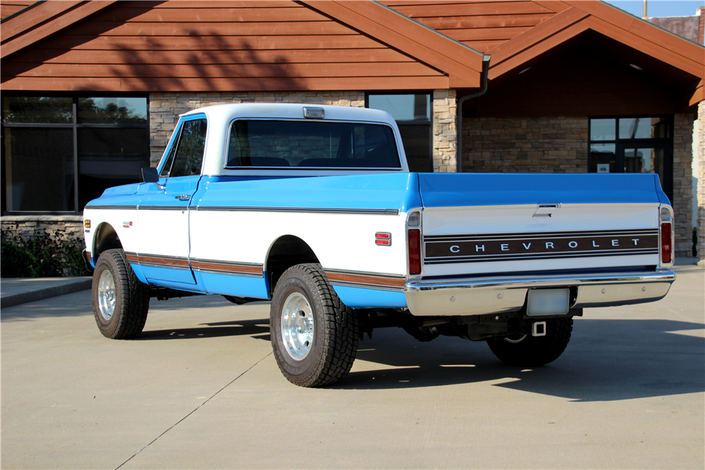 1972 CHEVROLET CHEYENNE SUPER 10 PICKUP - Rear 3/4 - 188477